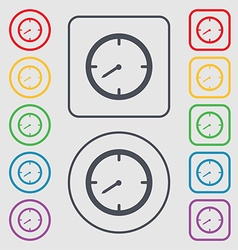 Timer sign icon stopwatch symbol symbols on the vector