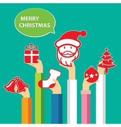 Christmas banner flat design vector
