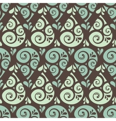 Swirl drop seamless pattern background vector
