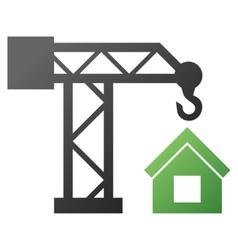 House building crane gradient icon vector