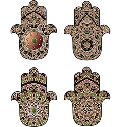 Maroon-brown hamsa vector
