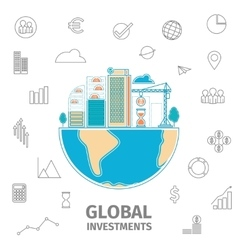 Global investment concept vector