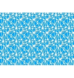 White neural network on blue abstract background vector image