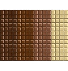 Dark and white chocolate bar background texture vector image