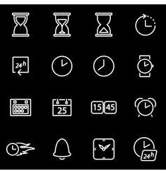 Line time icon set vector