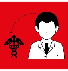 Doctor with symbol medical isolated icon design vector