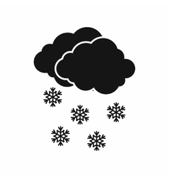 Cloud and snowflakes icon simple style vector