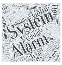Alarm systems word cloud concept vector