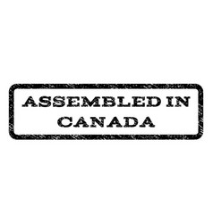 assembled in canada watermark stamp vector image