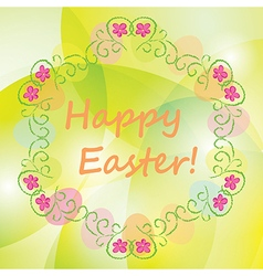 background with floral ornament - happy easter vector image vector image