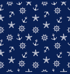 blue marine pattern vector image