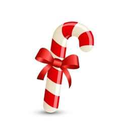 Christmas stripped candy cane vector image vector image