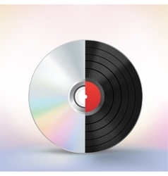 disc evolution vector image