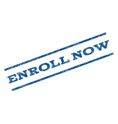 Enroll now watermark stamp vector