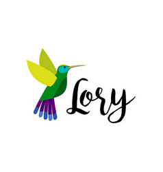 exotic tropical lory bird vector image