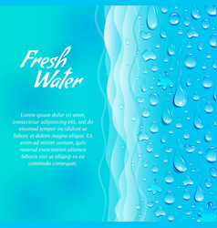 Fresh water promotion ecological poster vector image vector image