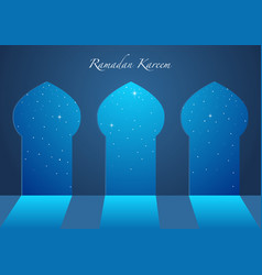 Graphic of a mosque windows vector