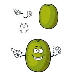 Happy cartoon kiwi fruit character with smile vector