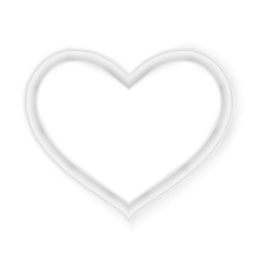 Heart picture frame isolated on white EPS 10 vector image vector image