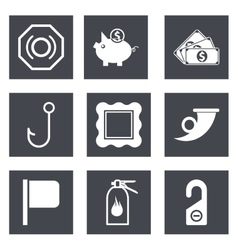 Icons for web design set 14 vector