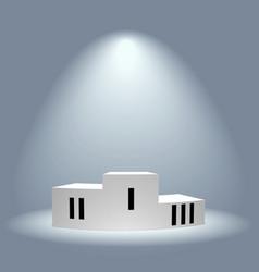 Illuminated Winners Podium vector image