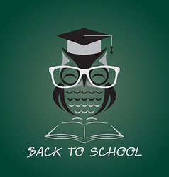 image of an owl glasses with college vector image