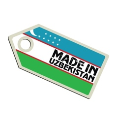 Made in Uzbekistan vector image vector image