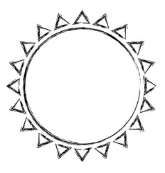 Monochrome blurred contour with sun icon close up vector