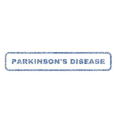 Parkinson s disease textile stamp vector