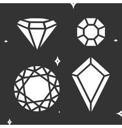 Set diamond symbol vector image vector image