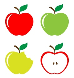 Set of apples vector image