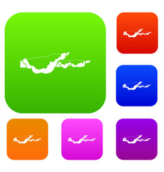 snow set color collection vector image