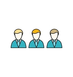 Social Icon Employees vector image