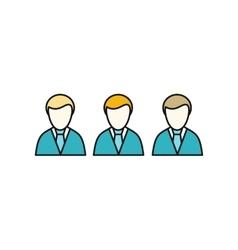 Social icon employees vector