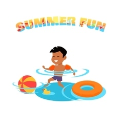 Summer Fun Concept in Flat Design vector image