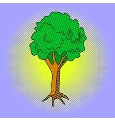 Tree Pop art vector image vector image