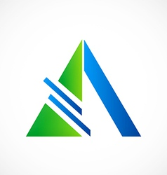 triangle construction abstract logo vector image