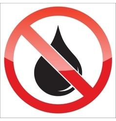 Water forbidden icon vector