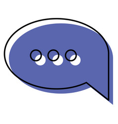 watercolor silhouette of speech bubble with vector image