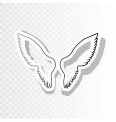 Wings sign new year blackish vector