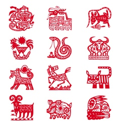 Chinese horoscope signs vector