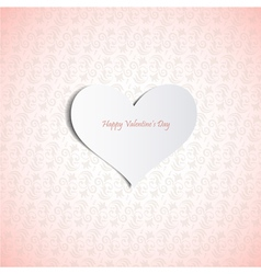Valentines Day card eps10 vector image