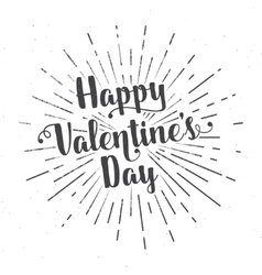 Happy Valentine s Day text and lettering vector image
