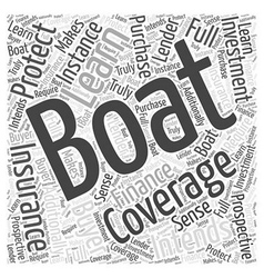 Learn how to protect your boating investment word vector