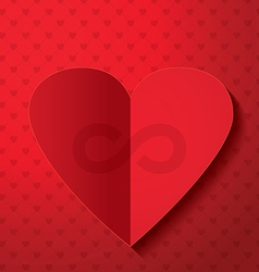 Valentines day infinity sign vector