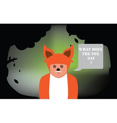 Fox Costume vector image