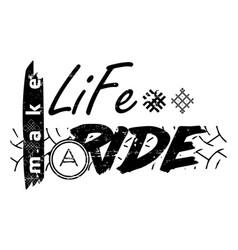 Moto travel slogan symbol text vector