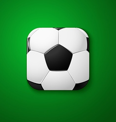Football soccer icon stylized like mobile app vector