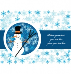 Snowman label vector