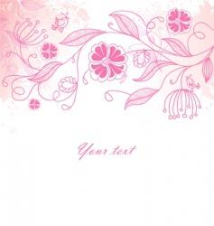 floral back blob vector image